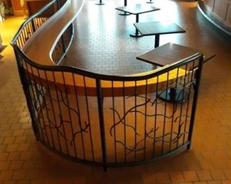 Large Bar Top With Railing