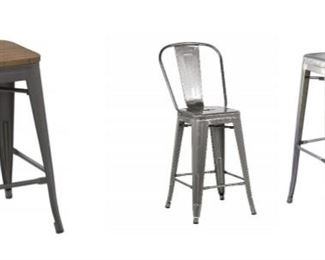 Multiple types of bar stools