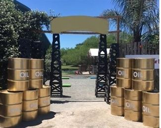 Oil Derrik and Oil Drums