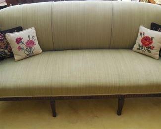 elegant curved back sofa