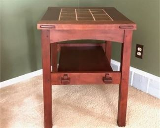 Lot 007  Stickley Tile Top Table