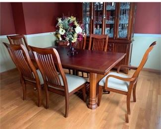 Lot 011  Cherry Mission Style Dining Set by Legacy Classic