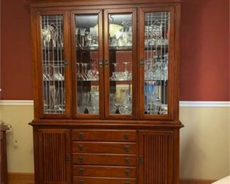 Lot 012  Mission Style China Cabinet By Legacy Furniture.