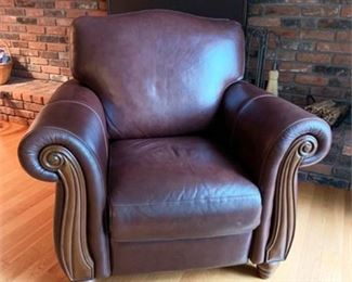 Lot 015  Hancock & Moore Leather Recliner