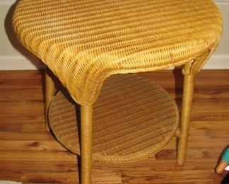 One of TWO Wicker Tables