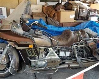 1982 Honda Goldwing motorcycle
