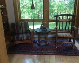 Mission chair & rustic rocking chair