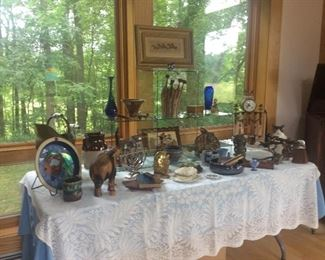 Miscellaneous glassware and pottery