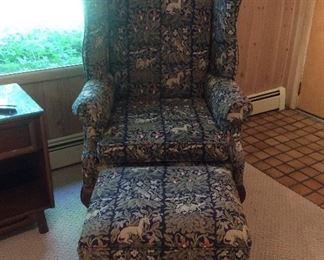 Very nice wing chair ottoman