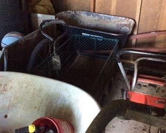 Snow blower (Toro) wheelbarrow, misc