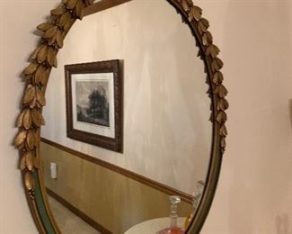 Antique Oval Baroque-Style Mirror ==> $275 plus tax