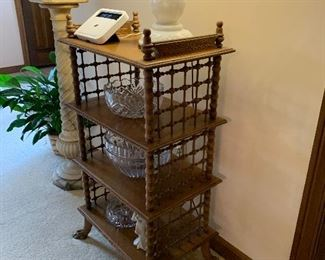 antique/vintage etagere bookshelf ==> $250
