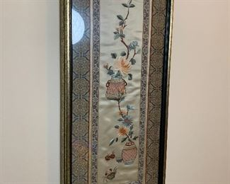 Pair of framed Asian Panels is $100