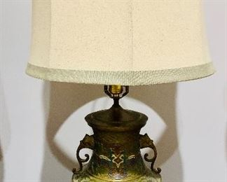 Brass chinoiserie lamp with elephant truck embellishments is only $125 plus tax