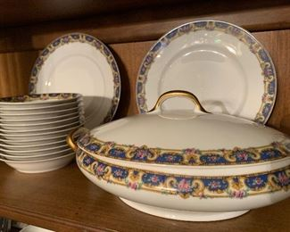 Set of Limoges bone China is only $200 plus tax