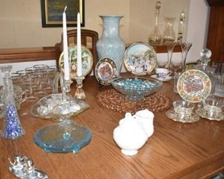 Vases Stemware Candle Holders Plates Cream Sugars