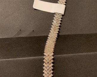 Sterling and  Diamond Bracelet