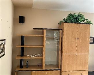 """LARGE CONTEMPORARY WALL UNIT-4 PIECE 161"""" LENGTH x 85"""" HEIGHT x 19"""" DEPTH"""