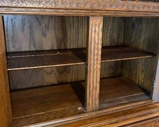 """SOLID WOOD CARVED CABINET 40.5"""" LENGTH x 62 """"HEIGHT x 19""""DEPTH"""