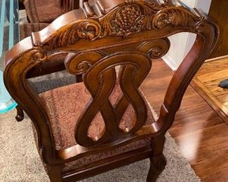 UPHOLSTERED TRADITIONAL CHAIRS BY ASHLEY FURNITURE -10 CHAIRS