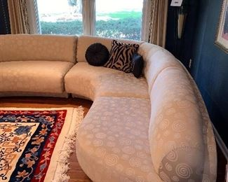 """MODERN /CONTEMPORARY CREAM SECTIONAL  BY PREVIEW FURNITURE  LEFT SIDE 98"""" RIGHT SIDE 102"""" DEPTH 40"""" HEIGHT 30"""""""