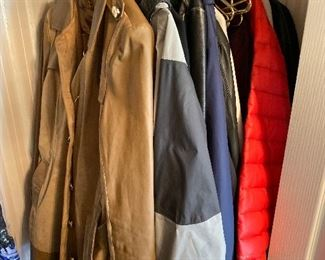 WOMENS AND MENS COATS AND JACKETS