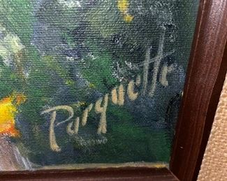 PARQUETTE OIL ON CANVAS PAINTING