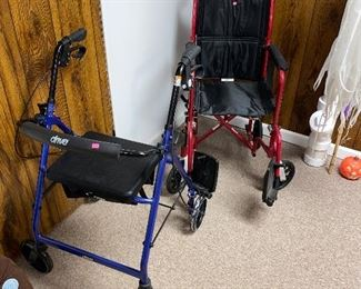 WALKER AND WHEELCHAIR