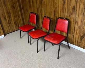 VINTAGE RED CHAIRS