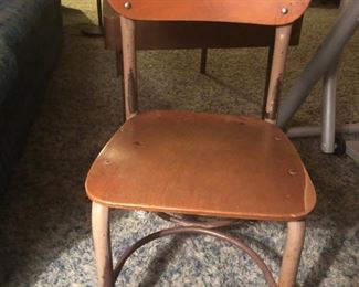 Vintage child's school chair w/desk