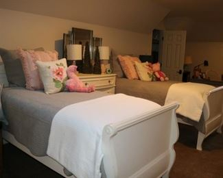 Stanley White Twin Beds
