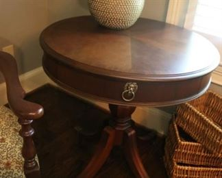 National Mount Airy drum table