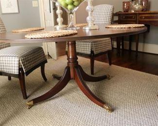 "Antique Mahogany 60"" Dining Table"