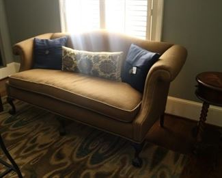 Camelback Queen Anne sofa