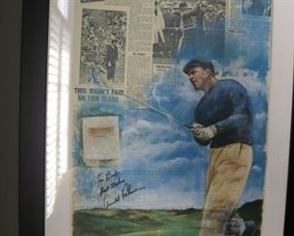 """Arnold Palmer Autograph Print      Arnold Palmer Signed 14.5"""" x 28.5"""" Limited Edition """"Dubbing of the King"""" Lithograph by Douglas B. London"""