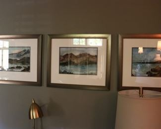 Watercolor Triptych