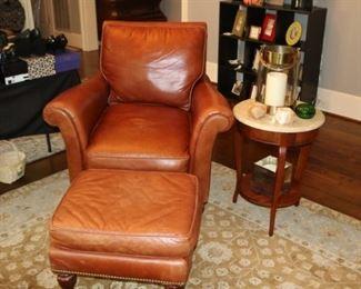 Century Leather Chair & Ottoman