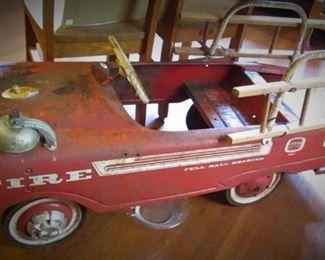 Vintage Pedal FireTruck