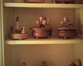 Wooden German Music Boxes
