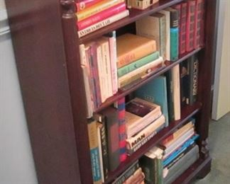 Antique Bookcase & Books
