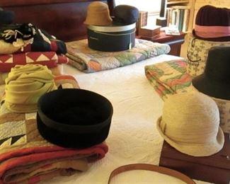 Vintage Hats...... Antique Quilts....