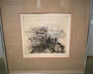 Original Etching by Andrew Rush