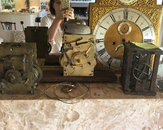 Tempus Fugit Clock face and clock works!