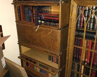 Barrister Bookcases and Leather bound books