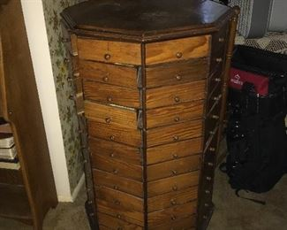 c 1900 Bolt/screw cabinet 96 drawers