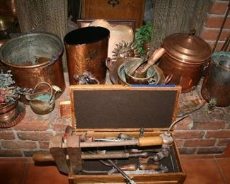 Antique Tools and Vintage Copper