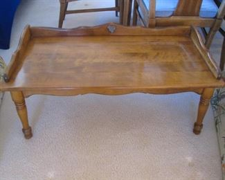 Traditional Gallery-Framed Coffee Table