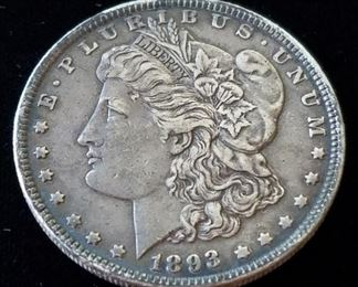 Rare Key Date 1893 Philadelphia Morgan Silver Dollar