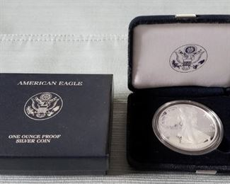 One ounce silver American Eagle Coin