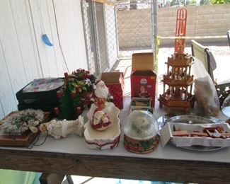 Patio, Backyard & Detached Garage...Santa & Friends